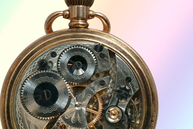 Máquina vieja hermosa del reloj imagen de archivo libre de regalías