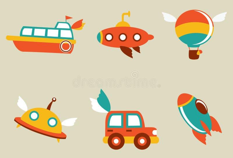 Máquina volante libre illustration