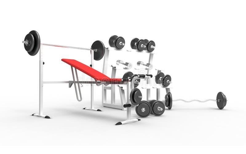 Máquina del Bodybuilding stock de ilustración