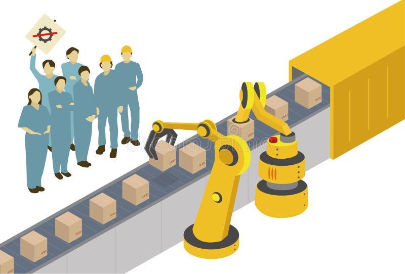 Máquinas contra seres humanos libre illustration