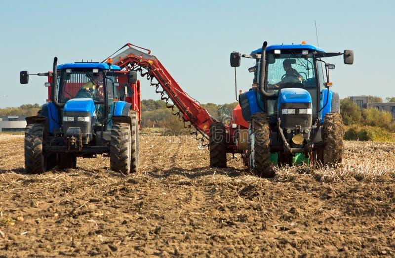 Máquinas da agricultura fotografia de stock