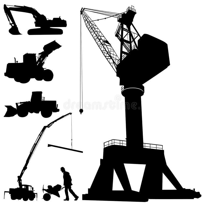Máquinas da construção ilustração stock