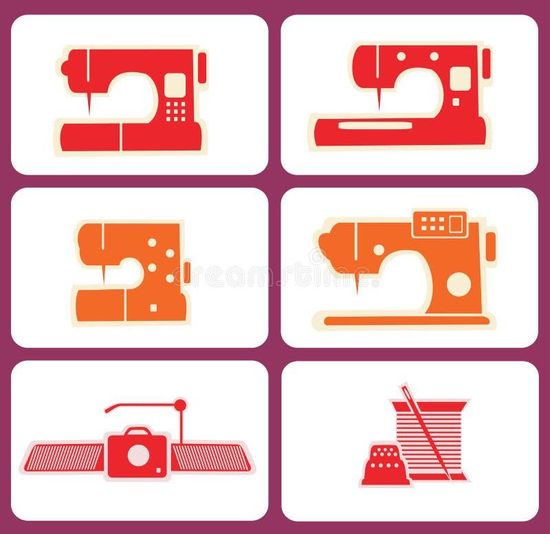Download Máquinas De Costura Ajustadas Ilustração do Vetor - Ilustração de pino, ilustração: 26518873