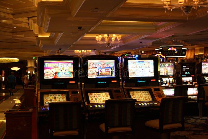 Máquinas de entalhe do casino fotografia de stock royalty free