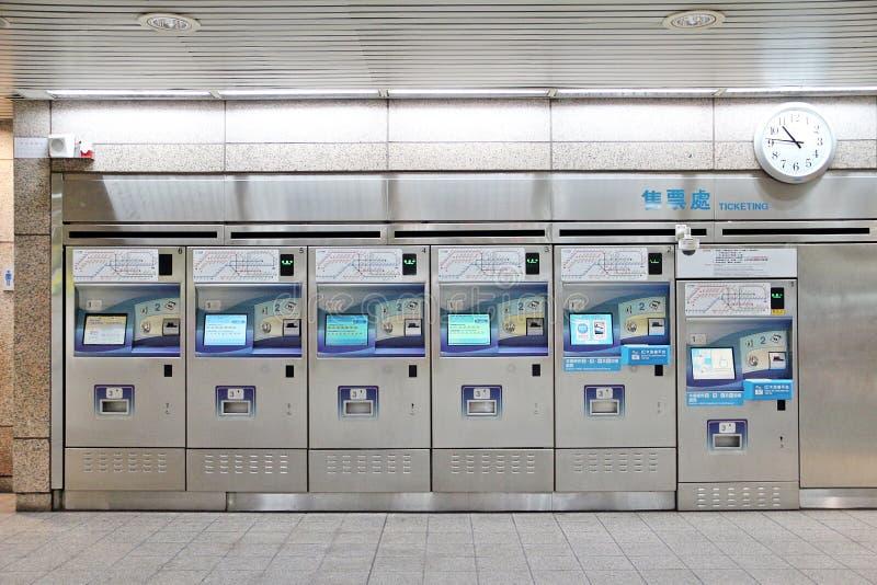 Máquinas de venda automática do bilhete imagem de stock