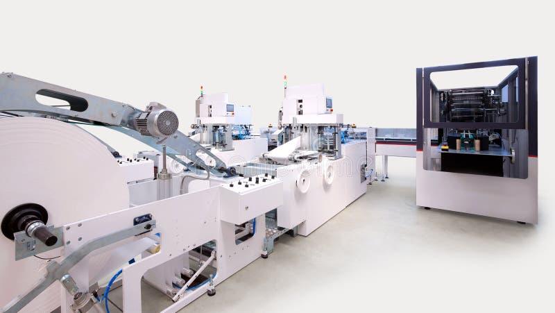 Máquinas do empacotamento e de impressão imagens de stock