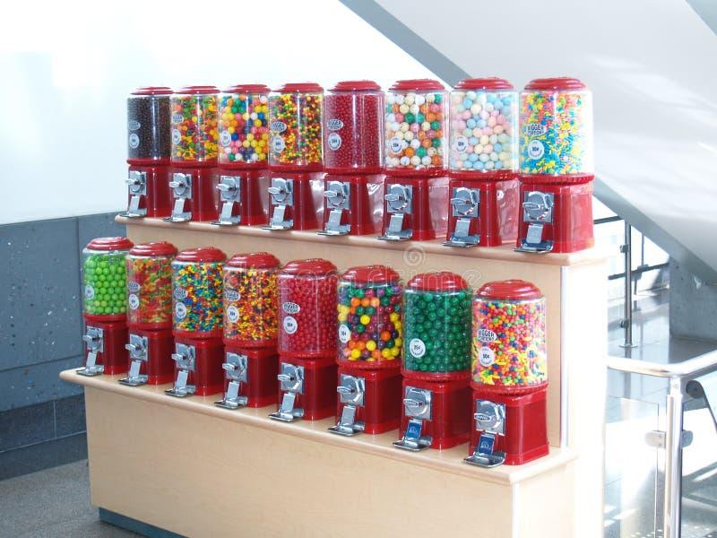 Máquinas dos doces foto de stock