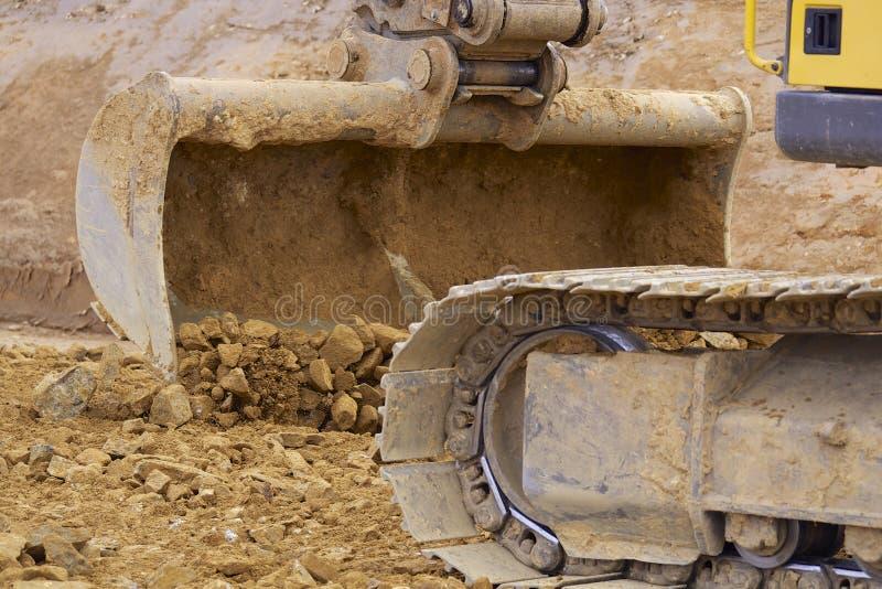 Máquinas escavadoras de Whelled imagem de stock royalty free