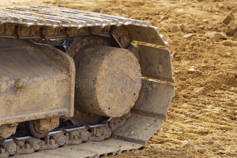 Máquinas escavadoras de Whelled imagem de stock