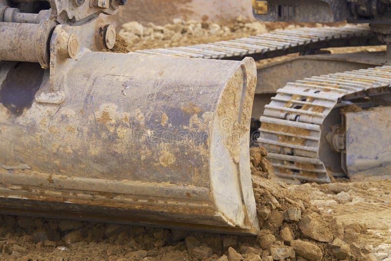 Máquinas escavadoras de Whelled fotos de stock royalty free