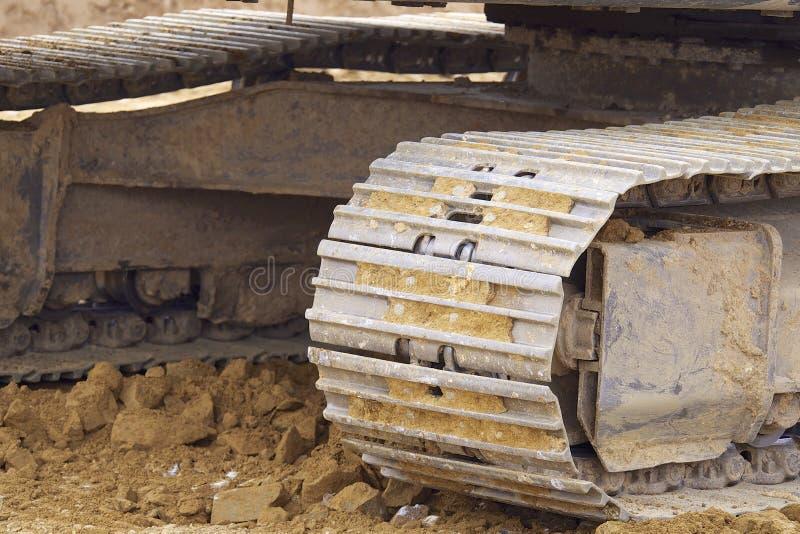 Máquinas escavadoras de Whelled fotos de stock