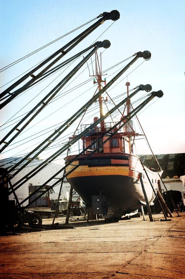 Máquinas grandes em março del Plata imagens de stock