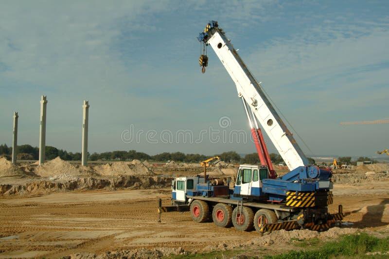 Máquinas na construção fotografia de stock