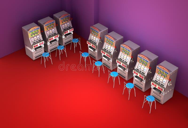 Máquinas tragaperras en el casino libre illustration