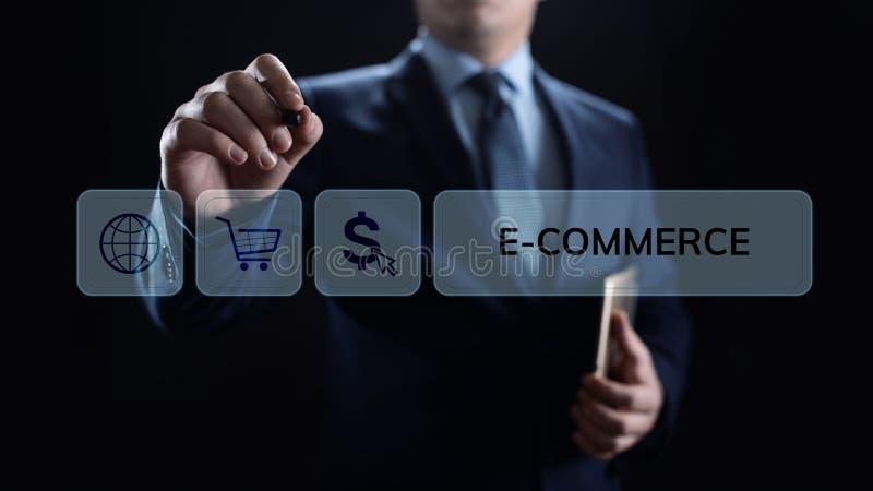 Márketing de Digitaces del comercio electrónico y concepto en línea de la tecnología del negocio de las ventas que hacen compras foto de archivo libre de regalías