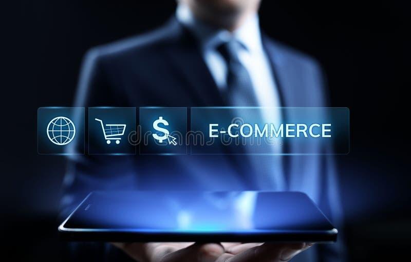 Márketing de Digitaces del comercio electrónico y concepto en línea de la tecnología del negocio de las ventas que hacen compras imagen de archivo