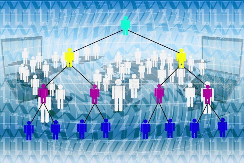 Márketing de la red humana. ilustración del vector