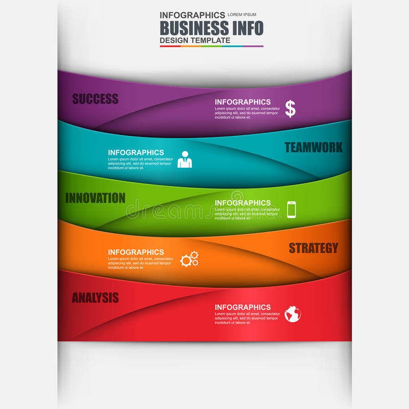 Márketing de negocio digital abstracto 3D Infographic libre illustration