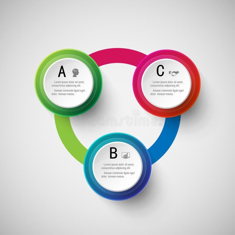 Márketing de negocio digital abstracto 3D Infographic ilustración del vector
