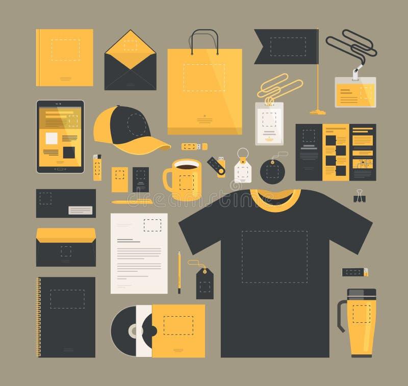Márketing de negocio Diseño de la identidad corporativa, plantilla Marca, compañía, concepto del logotipo Ilustración del vector libre illustration