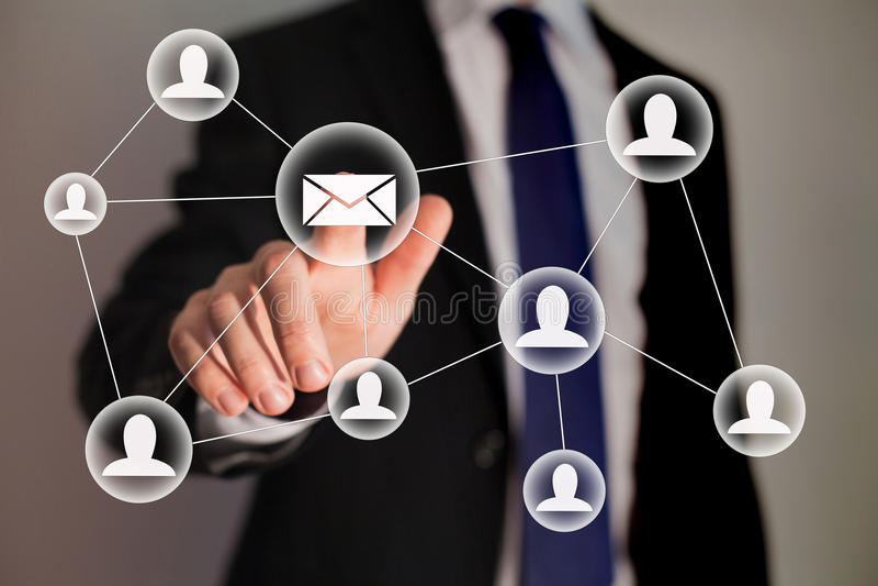 Márketing del correo electrónico fotografía de archivo libre de regalías