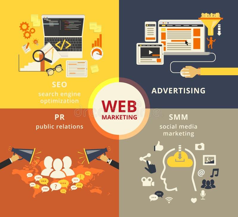 Márketing del Web stock de ilustración