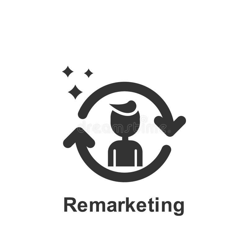 M?rketing en l?nea, icono de nuevo lanzamiento de nuevo Elemento del icono de comercializaci?n en l?nea Icono superior del dise?o libre illustration