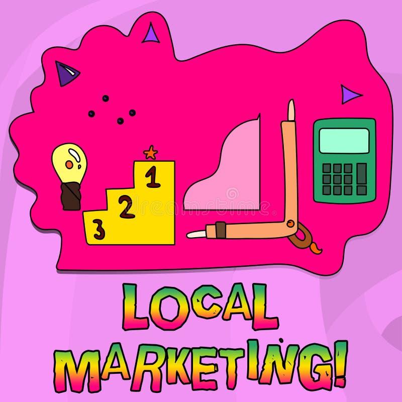 Márketing local del texto de la escritura de la palabra Concepto del negocio para los avisos comerciales de la publicidad regiona libre illustration