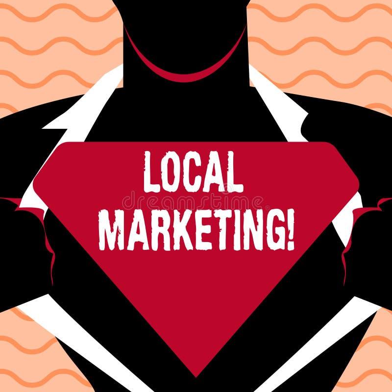 Márketing local del texto de la escritura de la palabra Concepto del negocio para los avisos comerciales de la publicidad regiona ilustración del vector