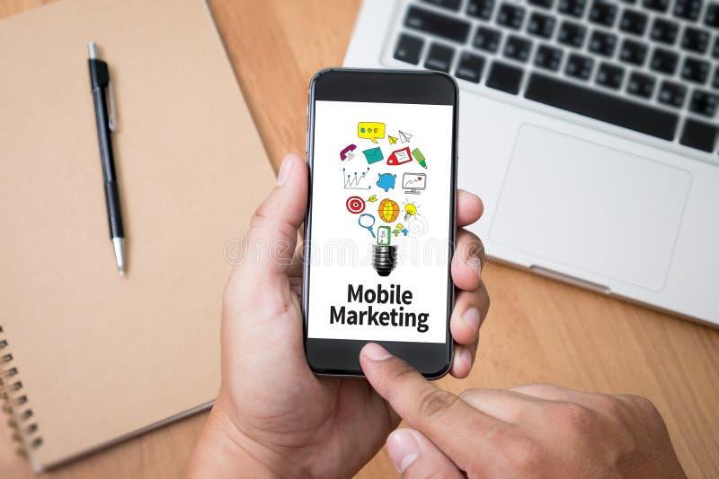 Márketing móvil stock de ilustración