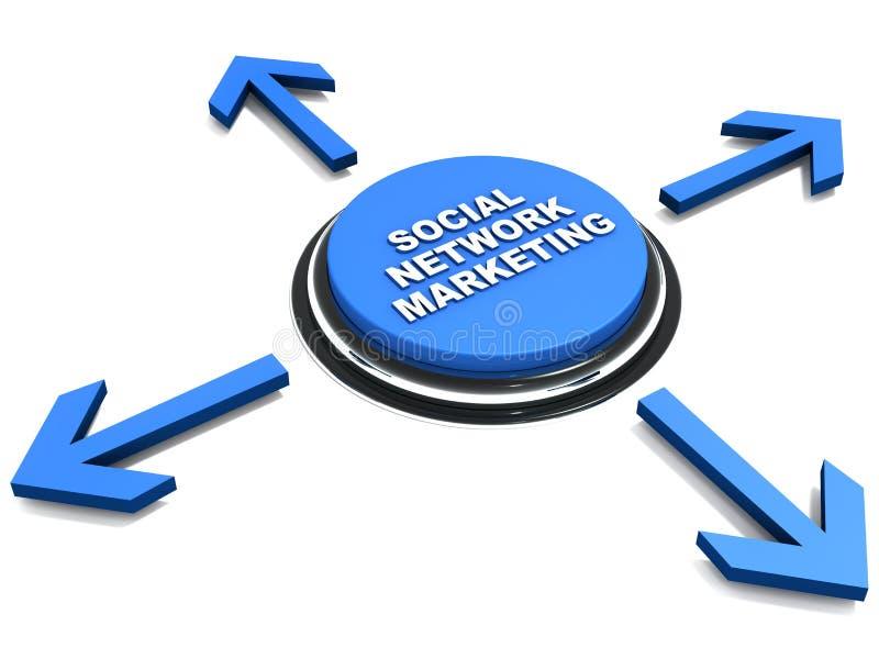 Márketing social de la red stock de ilustración