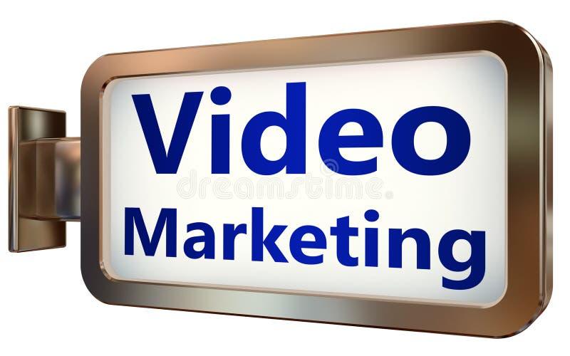 Márketing video en fondo de la cartelera stock de ilustración