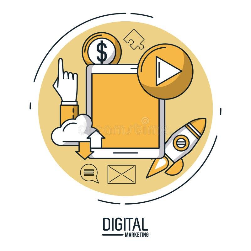 Márketing y publicidad de Digitaces infographic libre illustration