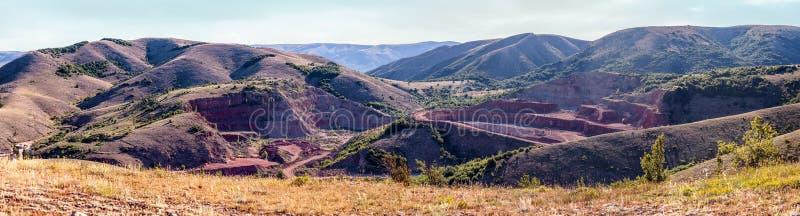 Mármol del rojo de la mina fotografía de archivo