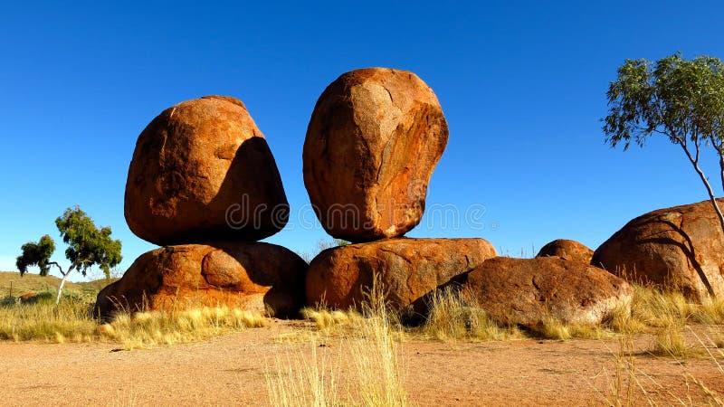 Mármoles de los diablos, Territorio del Norte, Australia fotografía de archivo libre de regalías