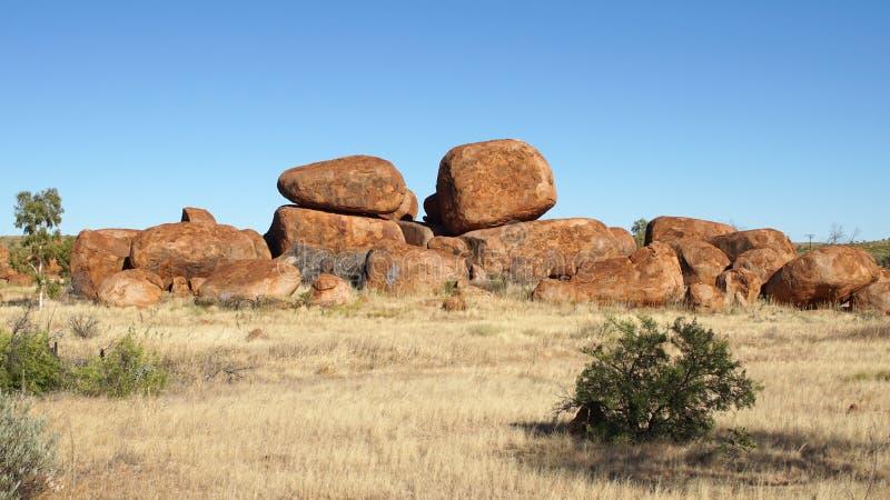 Mármoles de los diablos, Territorio del Norte, Australia imagen de archivo libre de regalías