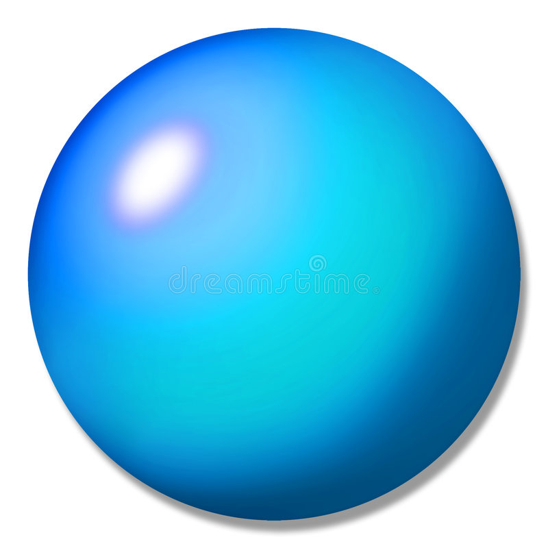 Mármore azul da esfera da tecla ilustração royalty free
