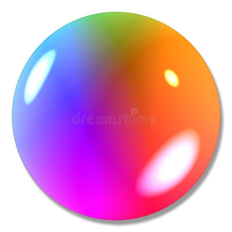 Mármore Multi-colored da esfera da tecla ilustração royalty free