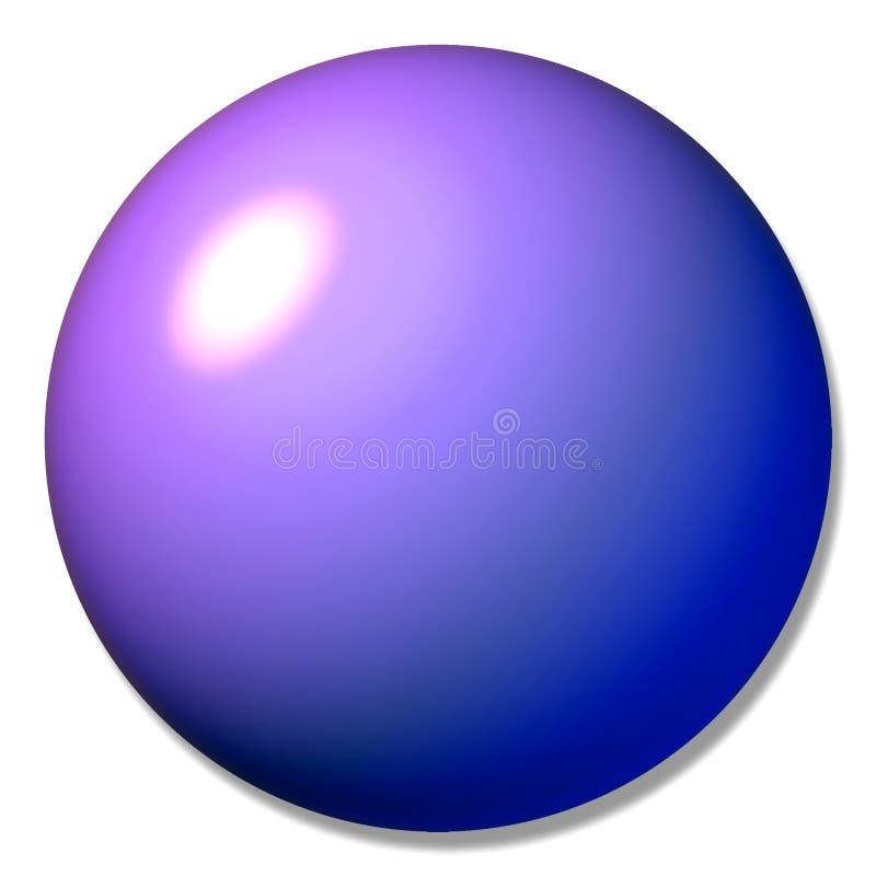 Mármore roxo da esfera da tecla ilustração royalty free