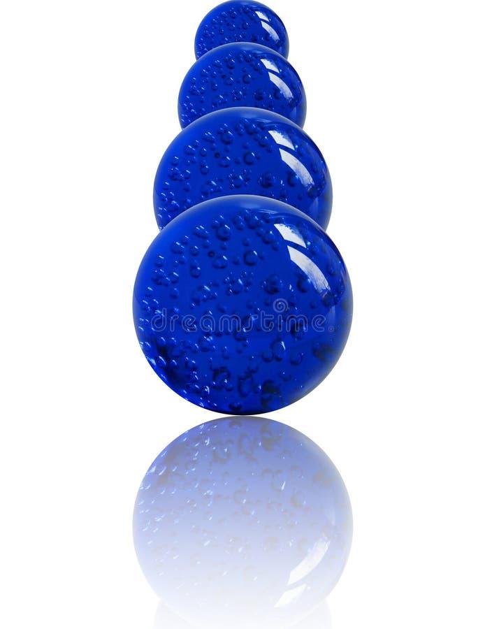 Mármores azuis empilhados foto de stock