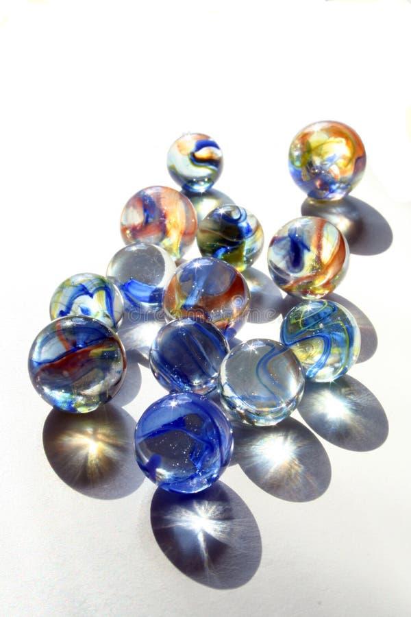 Mármores com redemoinhos azuis foto de stock