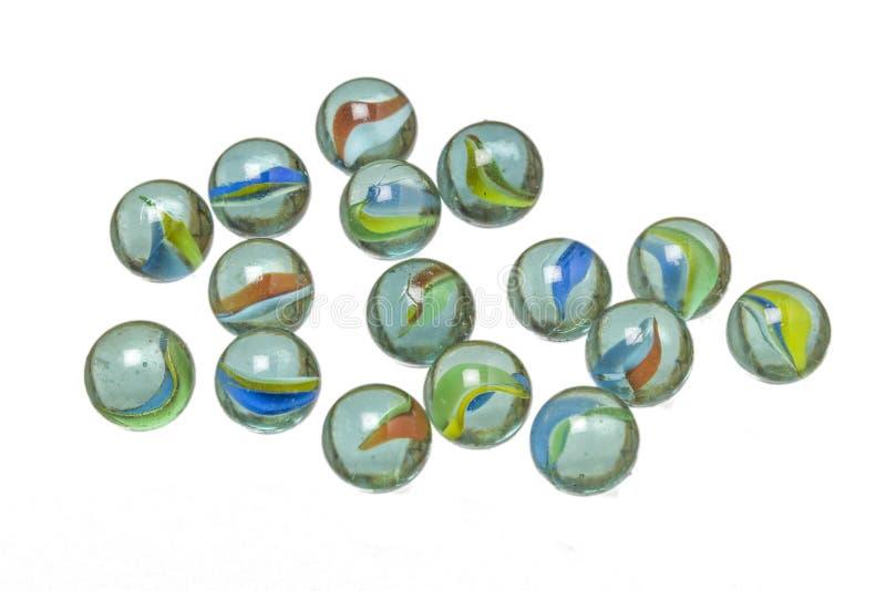 Mármores de vidro imagens de stock royalty free