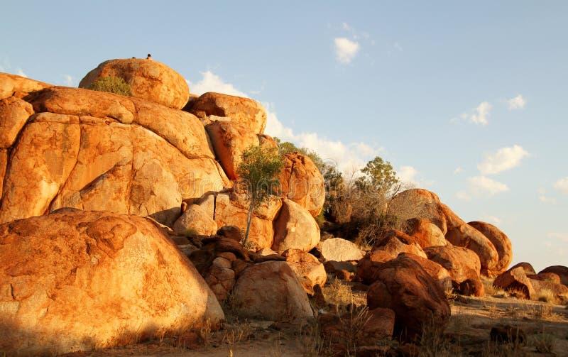 Mármores dos diabos (Karlu Karlu) Território do Norte, Austrália imagem de stock royalty free