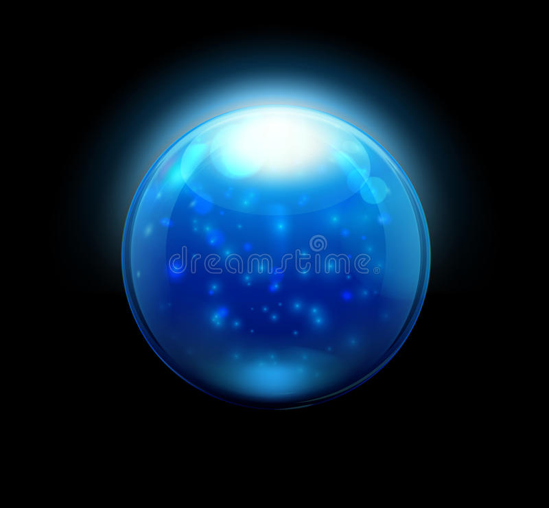 Mármores/esfera de vidro da tecla ilustração stock