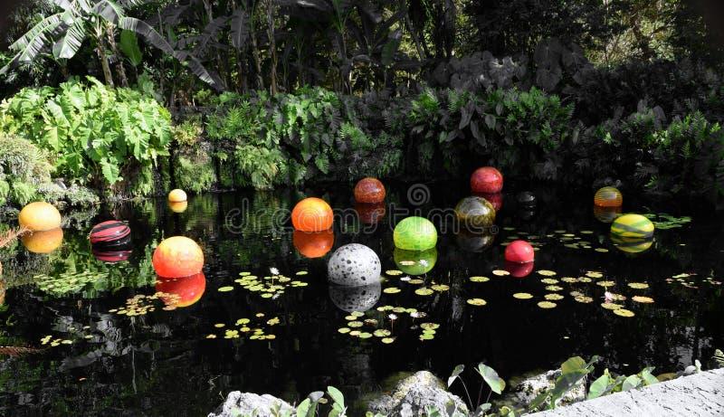 Mármores na lagoa fotos de stock royalty free