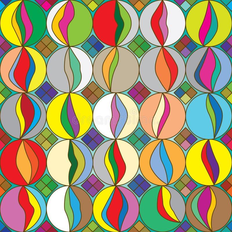 Mármores Pattern_eps sem emenda colorido ilustração do vetor