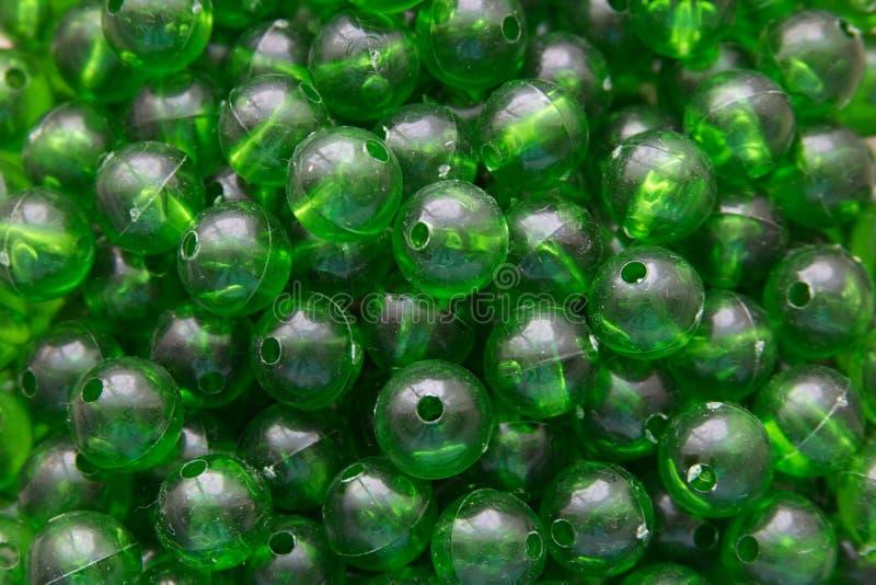 Mármores plásticos verdes foto de stock