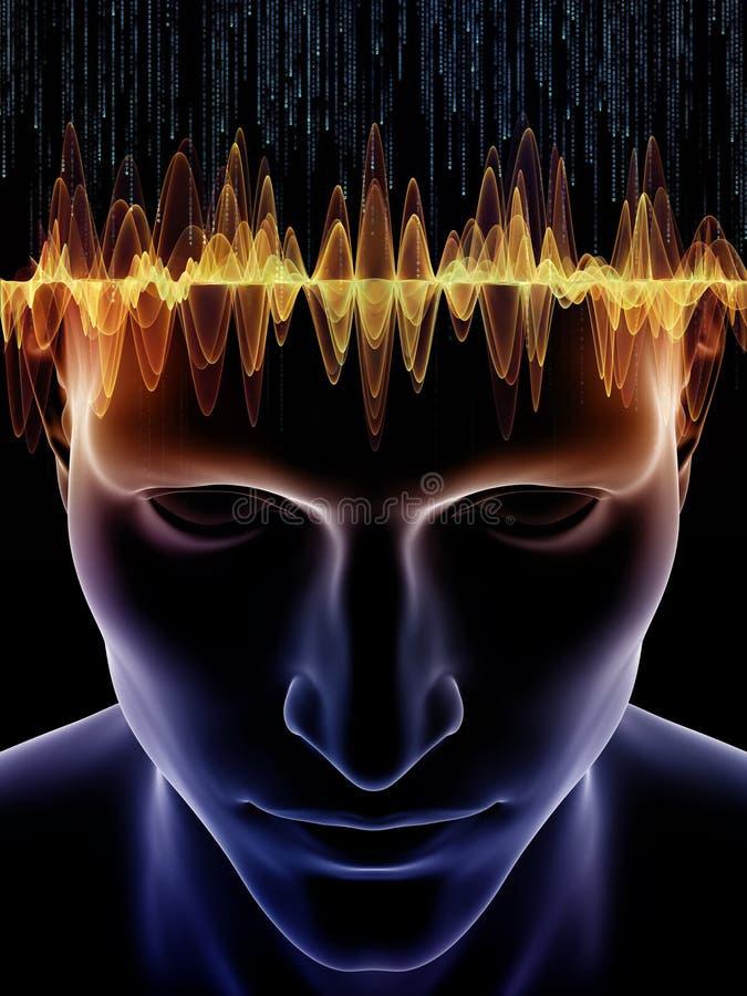 Más allá de mente humana ilustración del vector