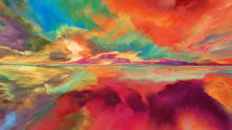 Más allá de paisaje abstracto ilustración del vector