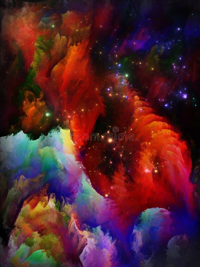 Más allá de sueños del fractal ilustración del vector